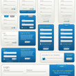Vector Website Forms | Blue — Stock Vector