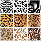Hayvan derileri — Stok Vektör