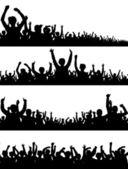 人群集合 2 — 图库矢量图片