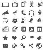 медиа иконки | черный — Cтоковый вектор