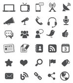 Media Icons | Black — Vettoriale Stock