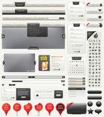 Kit di progettazione web — Vettoriale Stock