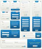 Formes de vecteur website | bleu — Vecteur