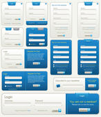 Vector Website Forms | Blue — Stockvektor
