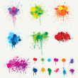 Colored Splats - Stock Vector