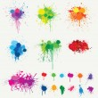 Colored Splats — Stock Vector