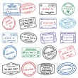 Pasport Stamps — Stock Vector