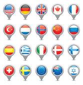 Ulusal bayraklar — Stok Vektör