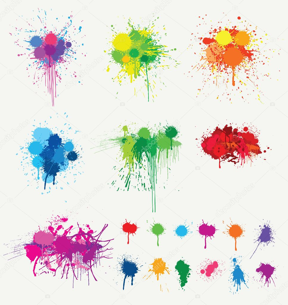 Color Splatter Vector Vector Colored Splatter