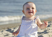 Baby on a beach — Stock Photo