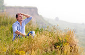 Young man rest — Stock Photo