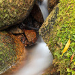Small natural waterfall. - Stock Photo