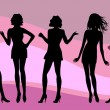 Silhouettes of various women — Stock Vector #5984539