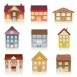 Various houses — Stock Vector