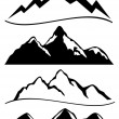 Stock Vector: Various mountains