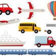 Stock Vector: Transportation symbols