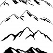 Stock Vector: Snowy mountain peaks