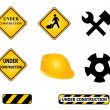 Construction signs and tools — Stock Vector #5984950