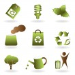 Eco and environment icon set — Stock Vector #5984951