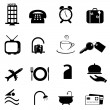 Stock Vector: Hotel symbols icon set