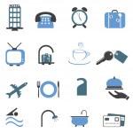 Hotel symbols icon set — Stock Vector