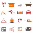 Hotel or accommodation icons — Stock Vector #5984996