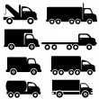 Truck silhouettes — Stock Vector