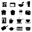 Stock Vector: Kitchen utensils and items
