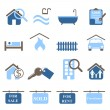 Real estate icons — Stock Vector #5985009