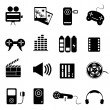 Media related icon set — Stock Vector