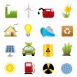 Clean energy icon set — Stock Vector