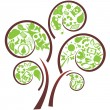 Royalty-Free Stock Vector Image: Green eco tree