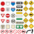Road and traffic signs — Stock Vector #5985037