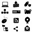 Computer and technology icons — Imagen vectorial