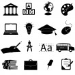 School and education icons — Stock Vector #5985057
