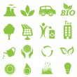 Ecology and environment icon set — Vector de stock