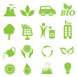Ecology and environment icon set — 图库矢量图片