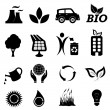 Stock Vector: Ecology related symbols