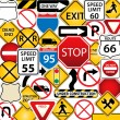 Road and traffic signs — Stock Vector #5985101