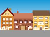 Huizen te koop — Stockvector