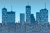 Skyscrapers at urban skyline — Stock Vector