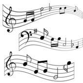 Music notes — Vettoriale Stock