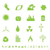 Green ecology and environment symbols — Stock Vector