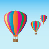 Hot air balloons at the festival — Vector de stock