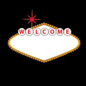 Blank Las Vegas Sign — Stock Vector