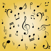Note musicali — Vettoriale Stock