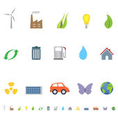 Eco symbols and icons — Stock Vector