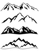 Mountains with snow — Stock Vector