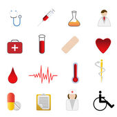 Medical and health care symbols — Stock Vector