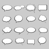 Talk and speech balloons or bubbles — Stock Vector